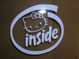 HELLO KITTY INSIDE decal sticker car truck windows