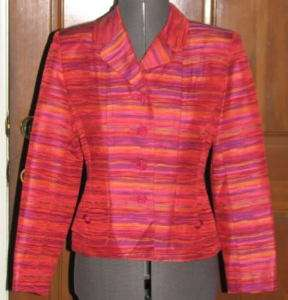 VINTAGE Ricki Freeman for Teri Jon colorful blazer