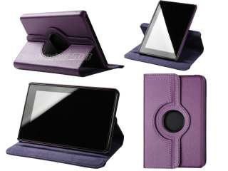For Kindle Fire PU leather Case/Car Charger/USB Cable/Stylus/Ea
