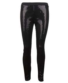 Blue Inc Womens Ladies Black Sequin Leggings Pants New