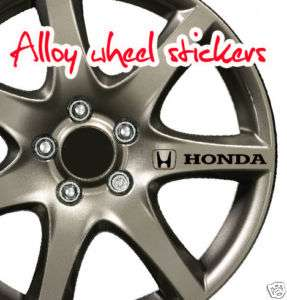 HONDA logo decal graphics sticker alloy wheels X8