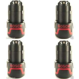 FOUR New Bosch Screwdriver Power Tool 10.8V Lithium Battery Packs