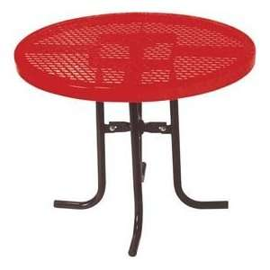30 High Food Court Round Table, Diamond 36Diameter   Red