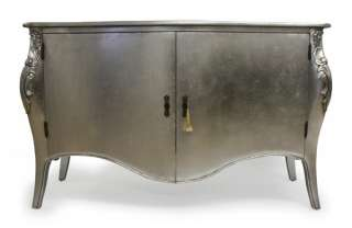 French Silver Leaf Sideboard Contemporary Modern Opulent TV Cabinet