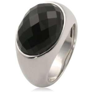 Goldmaid Damen Ring Schachbrettschliff 585 Weißgold 1 Onyx Gr. 54 Fa
