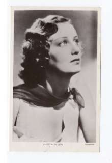 k3575   film actress Judith Allen   postcard