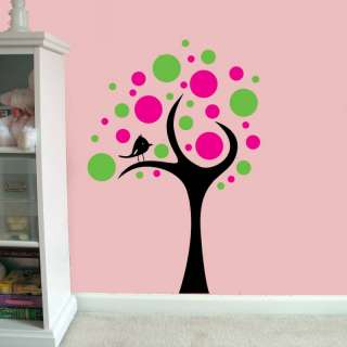 Large Childs Kids Room Spotty Tree Vinyl Wall Art Decal