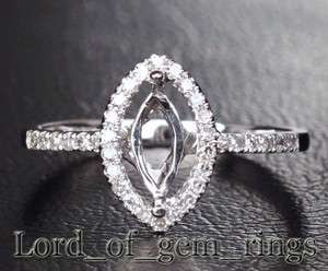 5x7mm marquise 14k white gold diamond semi mount ring