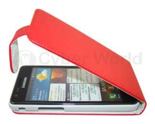 LEATHER FLIP CASE COVER POUCH FOR SAMSUNG GALAXY S2 ii I9100 UK