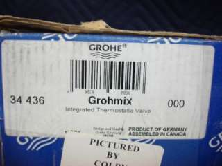 GROHE GROHMIX 34 436 THERMOSTATIC VALVE MISSING PARTS