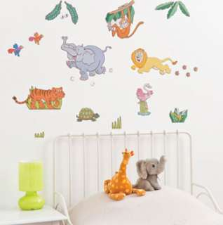 21 JUNGLE SAFARI Mini Wall Art STICKERS Room Decoration