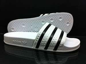 NEW Mens Adidas Originals ADILETTE Slide Flip Flops White Black UK 6