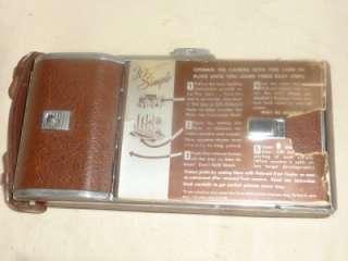Vintage Polaroid Land Camera Model 95 + Flash + Case + Meter + Extras