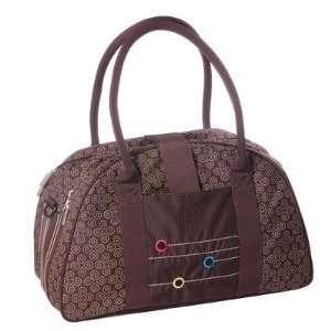 Casual Shoulder Bag in Wallpaper Chocolate: Baby