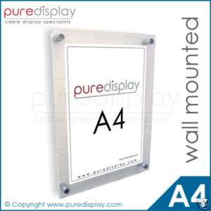 A4 Wall Mounted Poster/Photo Frame Holder   NEW!