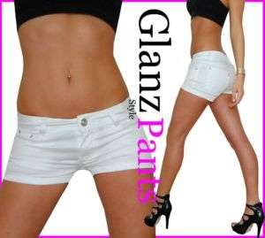 W1Goodies Glanz Jeans Hotpants Hot Pants XXS 32   L 40