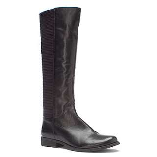 Aetrex Heather Tall Riding Boot  Womens   Black Leather   FREE