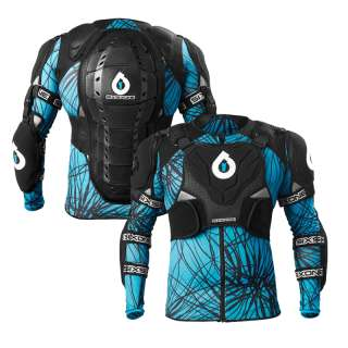 661 SixSixOne Evo Pressure Suit Bike Body Armour Black/Cyan Medium