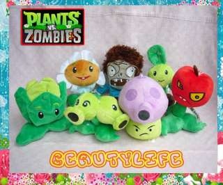 Anime PLANTS VS. ZOMBIES Puff shroom Marigold Plush Doll Soft Toy 7pcs