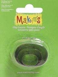 Makin Clay Cookie Craft Cutters Mini OVALS 3 Pcs