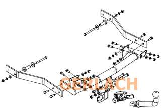 attelage remorque démontable + faisceau 7 broches Renault 19
