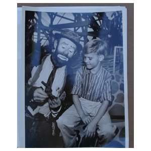 Emmett Kelly Clown Original 7x9 T V Photo #EDSC08414
