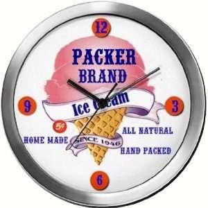 PACKER 14 Inch Ice Cream Metal Clock Quartz Movement