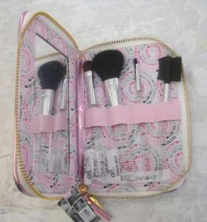 LOT 2 VICTORIA SECRET PINK WHITE STRIPE MAKEUP COSMETIC BAG TRAIN CASE