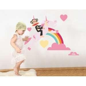 Paul Frank Julius Unicorn Love Over Rainbow Wall Sticker Decal