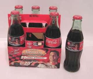 2003 NASCAR 6 Pack Bottles COCA COLA Tony Stewart # 20