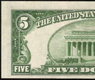 1934 B $5 DOLLAR BILL FEDERAL RESERVE NOTE CHICAGO Fr 1958 G EXTREMELY