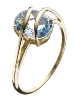 9ct gold blue topaz ring Very.co.uk