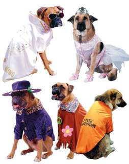 Princess, Hound Dog, Big Daddy, Jailbait, and Hippie Pet Costumes