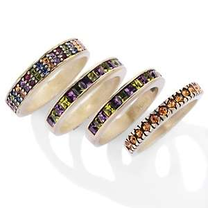 Heidi Daus Fab Four Set of 4 Crystal Band Rings