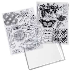 Anna Griffin® Fresh and Floral Clear Stamp Set