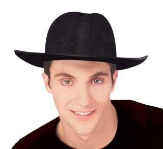 Adult Black Felt Fedora Hat   Gangster Zoot Suit Costume Accessories