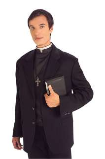 Priest Shirt Front with Collar   Priest Costume Accessories