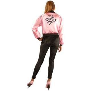 Pink Ladies Satin Jacket Adult Plus Costume, 27231