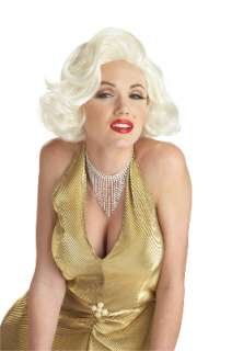 Classic Marilyn Monroe Costume Wig   Blonde for Halloween   Pure