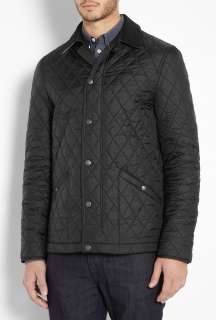 Burberry Brit  Black Check Lined Nylon Roden Quilt Jacket by Burberry