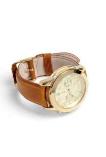 Michael Kors Watches  Gold Watch With Tan Leather Strap by Michael