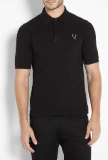 Fred Perry Blank Canvas  Black Covered Placket 6876 Collab Polo Shirt