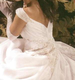 Royal White Cap Sleeve Bridal Gown/Wedding Dress All Sz