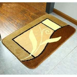 Golden Leaf Indoor Rug Bathroom Bath Mat Home Anti Slip