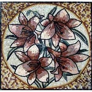 24x24 Natural Stone Flower Mosaic Tile Home Decoration