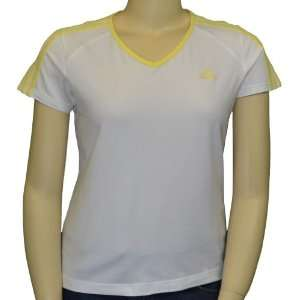 Womens Basics Short Sleeve Active Top White L