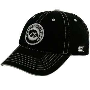 Iowa Hawkeyes Black Adjustable Broadside Hat Sports
