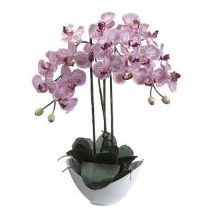 Artificial Purple Phalaenopsis Orchid Silk Flower Plants 20 Home