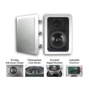 Audio MAQ 541 1 Home Theater In Wall Surround Sound Stereo Speakers