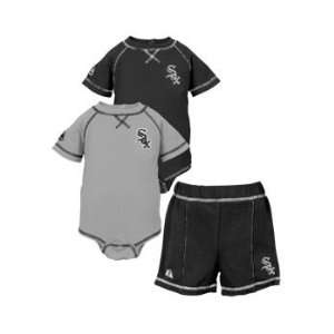 Chicago White Sox 3 piece Infant Creeper and Short Set by